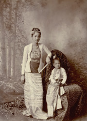Burmese mother and child